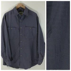 TravelSmith Mens Plaid Shirt Size L Button Front